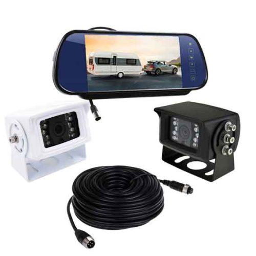 """PPA 7"""" Reversing Mirror & 2 Camera System"""
