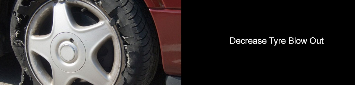 Decrease the likelihood of a tyre blow out if over inflated