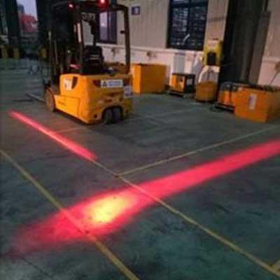 Forklift LED Red Zone Danger Warning Light