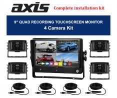 9-inch QUAD RECORDING TOUCHSCREEN MONITOR-4 Camera Kit
