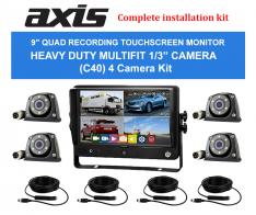 9″ QUAD RECORDING TOUCHSCREEN MONITOR C40 4 Camera Kit