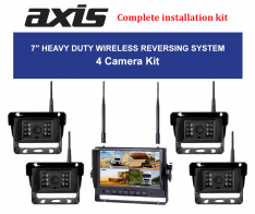 PPA-Axis 7-inches Heavy Duty Wireless Reversing System 4 Cameras