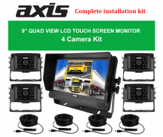 """PPA-Axis 9"""" QUAD VIEW LCD TOUCH SCREEN MONITOR 4 Camera Kit"""