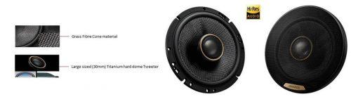 """Kenwood KFC-XH170 6.5"""" Hi Res Series 2way Coaxial speaker"""