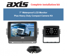 """Axis 7"""" Waterproof LCD Monitor Plus Heavy Duty Compact Camera Kit"""